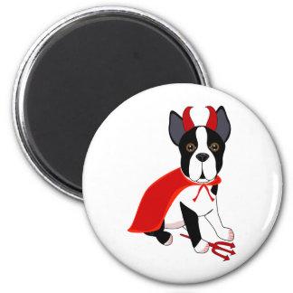 Little Devil Halloween Dog Magnet