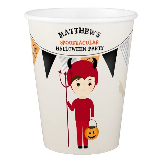 Little Devil Halloween Party Paper Cup