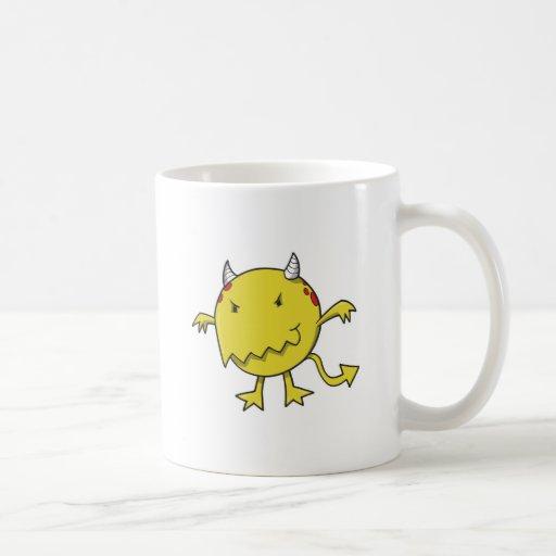 little devil inside yellow classic white coffee mug