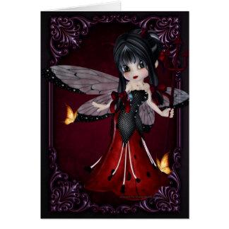 Little Devil Ladybug Design 1 Greeting Card