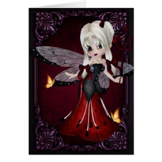 Little Devil Ladybug Design 2 Greeting Card