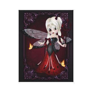 Little Devil Ladybug Design 2 Wrapped Canvas