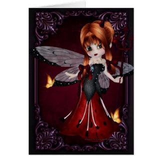Little Devil Ladybug Design 3 Greeting Card