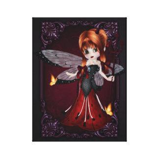 Little Devil Ladybug Design 3 Wrapped Canvas