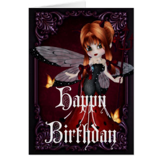 Little Devil Ladybug Design 3b Happy Birthday Card
