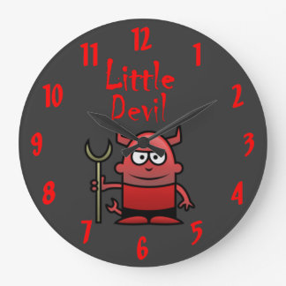 Little Devil Large Clock
