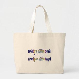 Little devil little angel large tote bag