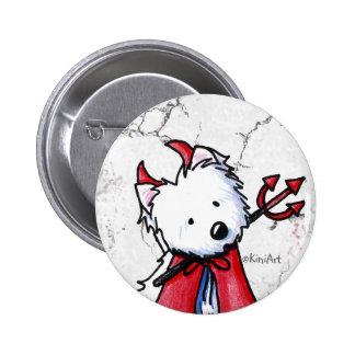 Little Devil Westie 2 Inch Round Button
