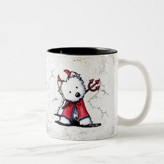 Little Devil Westie Two-Tone Coffee Mug