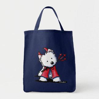 Little Devil Westie Tote Bag