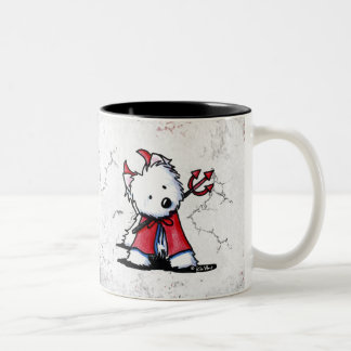 Little Devil Westie Two-Tone Coffee Mug