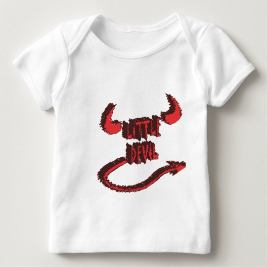 little devil with horns and tail baby T-Shirt
