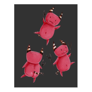 Little devils - Devils dance art Postcard