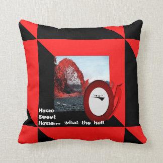 Little Devil's home sweet home Throw Pillows