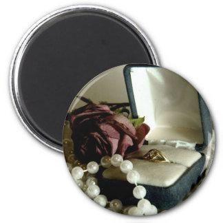 Little Diamond II 2 Inch Round Magnet
