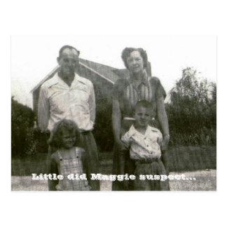 Little did Maggie suspect... Postcard