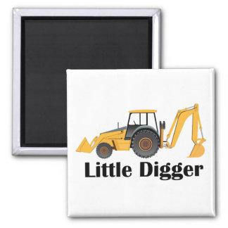 Little Digger - 2 Inch Square Magnet Magnet