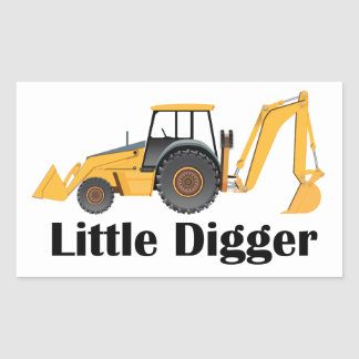 Little Digger - Rectangle Stickers, Glossy Rectangular Sticker