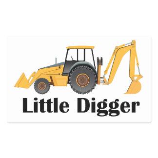 Little Digger - Rectangle Stickers, Glossy Rectangular Sticker