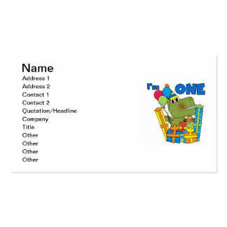 Little Dino 1st Birthday T shirts and Gifts Business Card Template