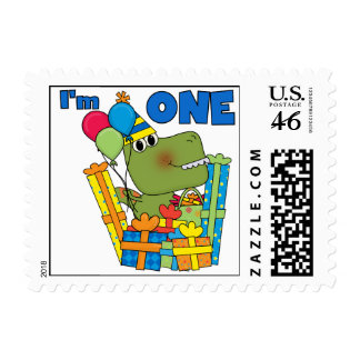 Little Dino 1st Birthday T shirts and Gifts Stamp