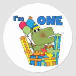 Little Dino 1st Birthday T shirts and Gifts Sticker
