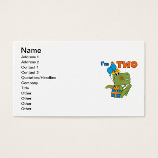 Little Dino 2nd Birthday Tshirts and Gifts Business Card