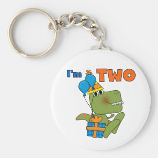 Little Dino 2nd Birthday Tshirts and Gifts Key Chain