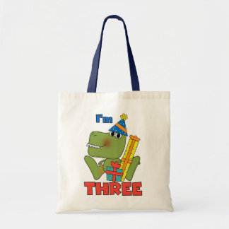 Little Dino 3rd Birthday Tshirts and Gifts Tote Bag