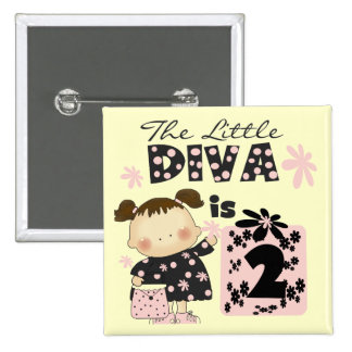 Little Diva 2nd Birthday Tshirts and Gifts Pins