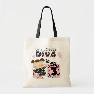Little Diva 3rd Birthday Tshirts and Gifts Tote Bag