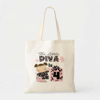 Little Diva 4th Birthday  Tshirts and Gifts Tote Bag