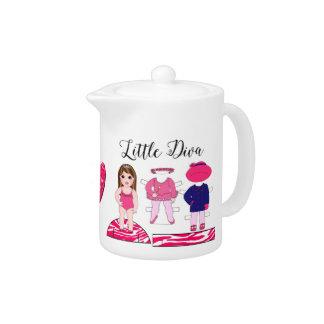 """Little Diva"" Teapot"