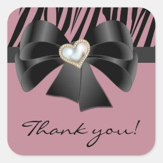 Little Diva Zebra Print Thank You Favor Stickers