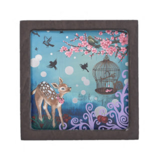Little Doe with Cherry Blossoms Gift Box