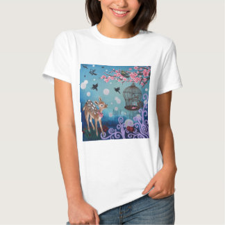 Little Doe with Cherry Blossoms T-shirt