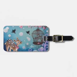 Little Doe with Cherry Blossoms Tag For Luggage