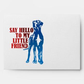 Little dog, big friend envelope