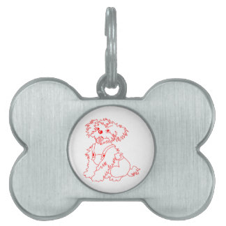Little Dog Laughed Pet ID Tag