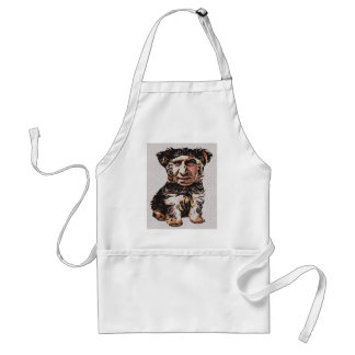 Little Dog Man Adult Apron