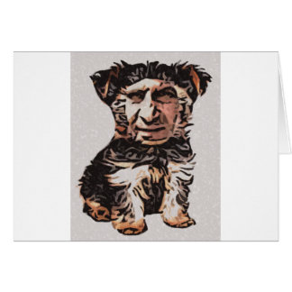 Little Dog Man Card