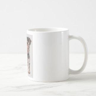 Little Dog Man Classic White Coffee Mug