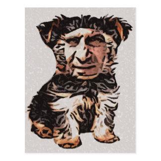 Little Dog Man Postcard