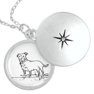 Little Dog Round Locket Necklace