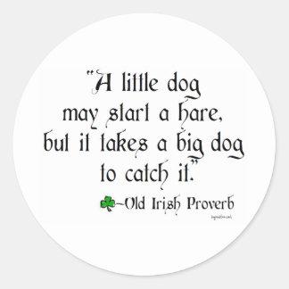 Little dog classic round sticker