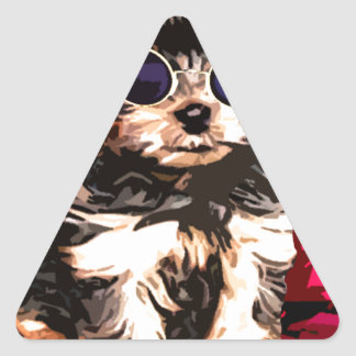 Little Doggy style Triangle Sticker