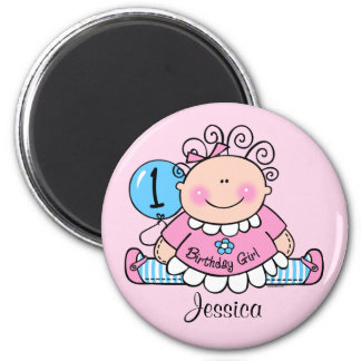 Little Doll 1st Birthday Personalized Magnet