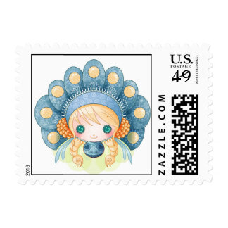 Little dollie Russian Postage Stamps