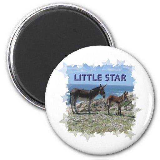 Little Donkey Star 2 Inch Round Magnet