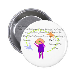 """""""Little Donny""""  Story Art Cards and T-Shirts Pinback Button"""